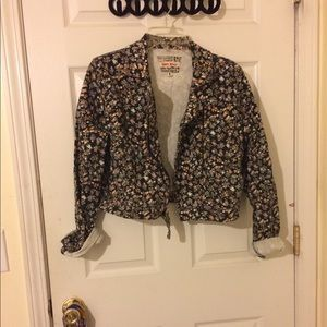 Floral jacket zip up